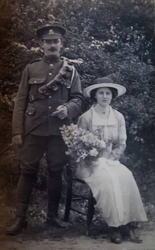 Herbert Mason and Nellie 15th May, 1915