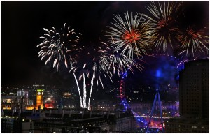 New Years Fireworks in London by Kate Albert ARPS