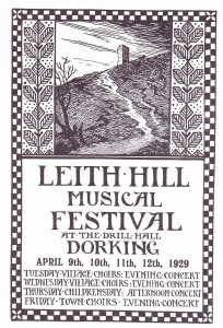 Leith Hill Music Festival Poster 1929