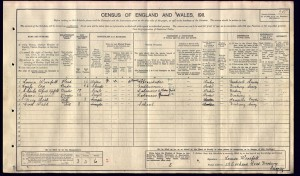 Charles Upfold 1911 Census © ancestry.co.uk