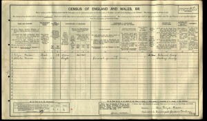 Charles William Mercer 1911 Census © ancestry.co.uk