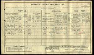 Cyril Wood 1911 Census © Ancestry.co.uk