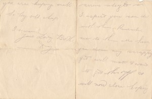 Douglas Durrant Letter 3rd March 1916