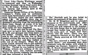 Edward George Taylor Inquest Report 2 © Dorking Advertiser Ancestry.co.uk