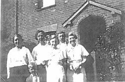 Florence Peters' sisters, front Nancy Alma King, her father Henry King and Kathy, Nancy's sister. The boy is Nancy's brother John King. © Susan King.jpg