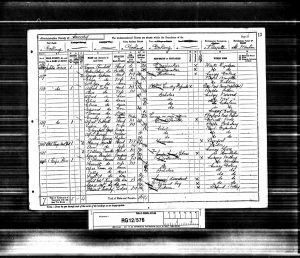 George Alfred King 1891 Census © ancestry.co.uk
