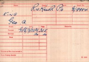 George Alfred King Medal Rolls Index Cards © ancestry.co.uk