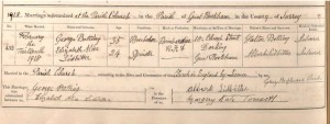 George Botting Marriage Certificate © Ancestry.co.uk