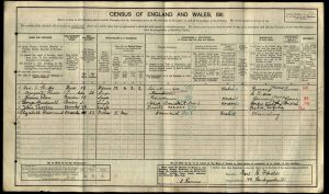 George Brickwell 1911 Census © findmypast.co.uk