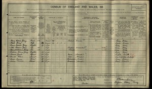 Henry Harman Young 1911 Census © findmypast.co.uk