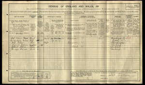 Job Tickner 1911 Census © ancestry.co.uk
