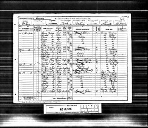 John Sanford 1891 Census © findmypast.co.uk