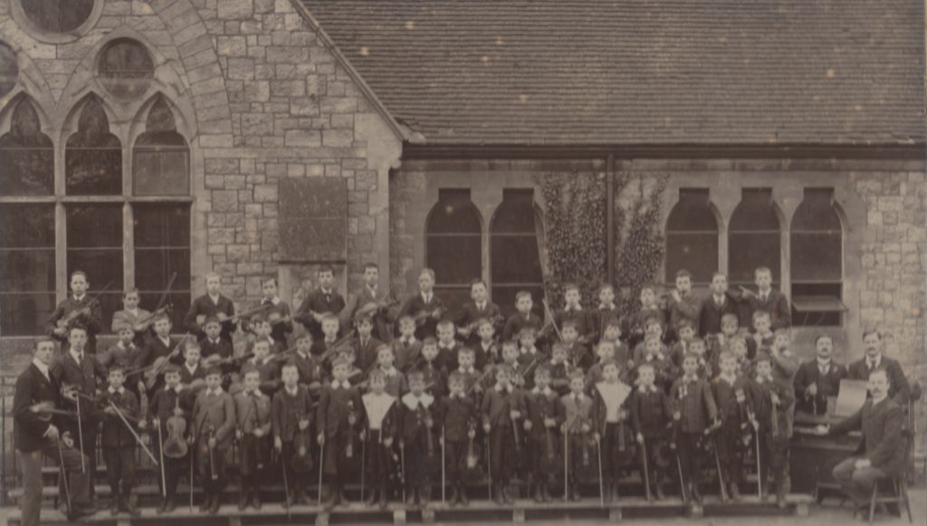 William Burgess (front row, 2nd from Right) at Maidstone All Saints Elementary Murdoch Orchestra