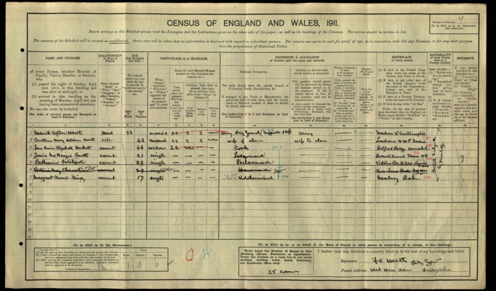 Martin Heath Caldwell 1911 Census © findmypast.co.uk