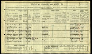 Percy Coleman 1911 Census © Ancestry.co.uk