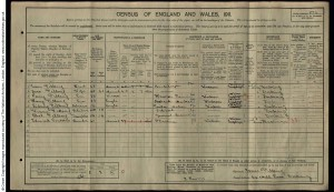 Sidney Fillery 1911 Census © Ancestry.co.uk