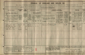 Sidney Foot 1911 Census © Ancestry.co.uk