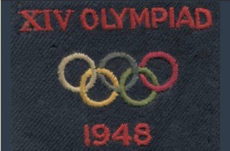The official Olympic badge from Walter Wareham's jacket. © Wareham Family Archive