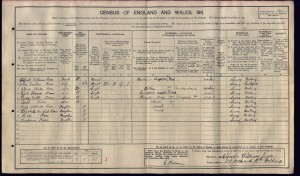 Thomas Cecil Rose 1911 Census © findmypast.co.uk