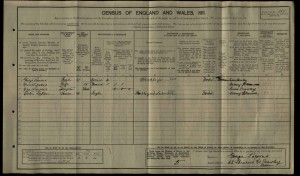 Victor Nathaniel Tickner 1911 Census © findmypast.co.uk
