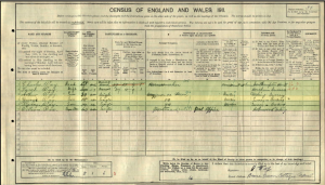 George Way 1911 Census © Ancestry.com