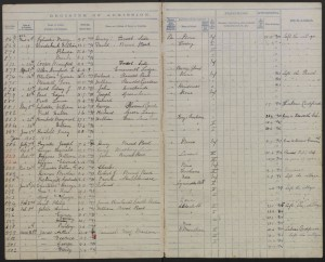 Westley Johns 1903 School Admission Register © West Sussex Record Office findmypast.co.uk