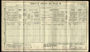 William Curror 1911 Census © ancestry.co.uk
