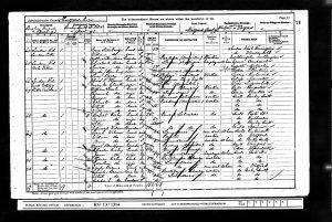 William Frederick Stanbridge 1901 Census © ancestry.co.uk