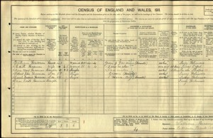 William Heasman 1911 Census © Ancestry.co.uk