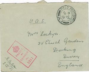 Sister Aylett envelope