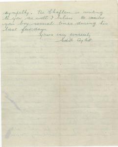 Aylett Letter to Mrs Lockyer