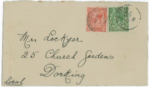 Envelope from W. B. Cull