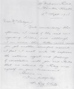 Condolence Letter White