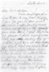 Condolence Letter Unknown Mother