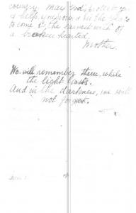 Condolence Letter Unknown