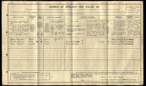 1911 Census © Ancestry.com