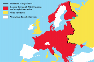 Occupied Europe: March 1944