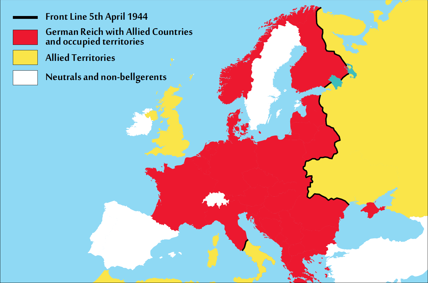Image result for occupied europe map 1944