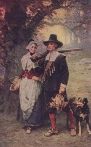 Priscilla Mullins and John Alden