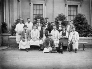 Decorators at Bury Hill c1910. Image : Dorking Museum