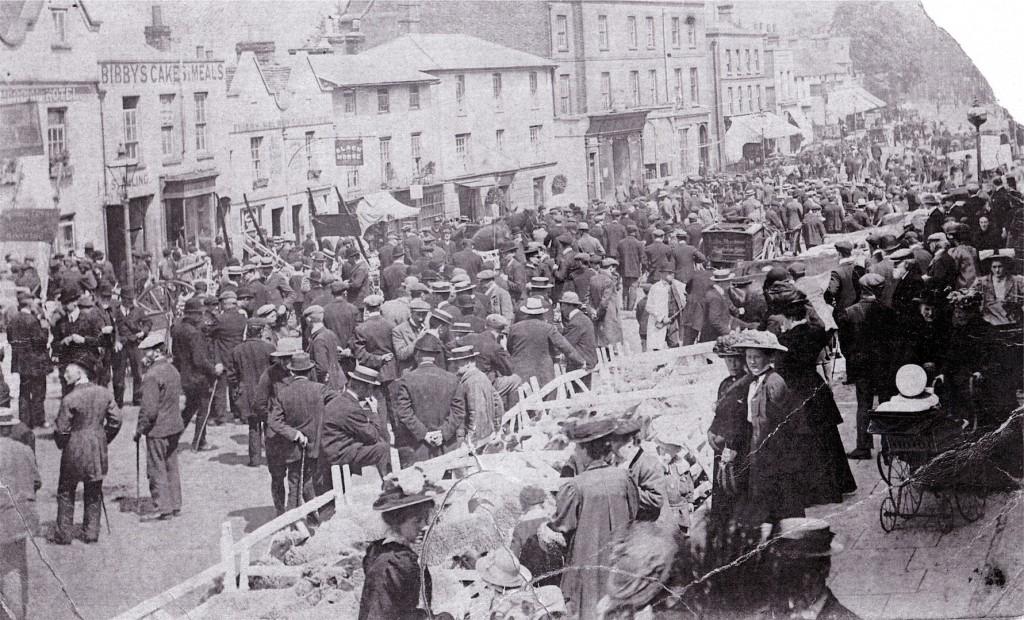 Dorking Market Day - 1900