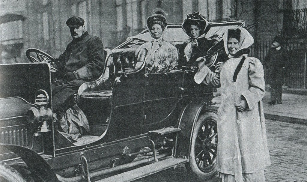 Mrs Pethick-Lawrence with Emmeline Pankhurst and Annie Kenny