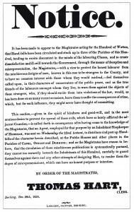 Dorking Riot Poster, 1830