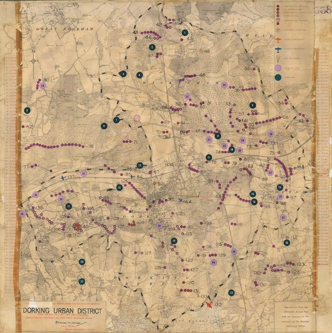Dorking Incident Map