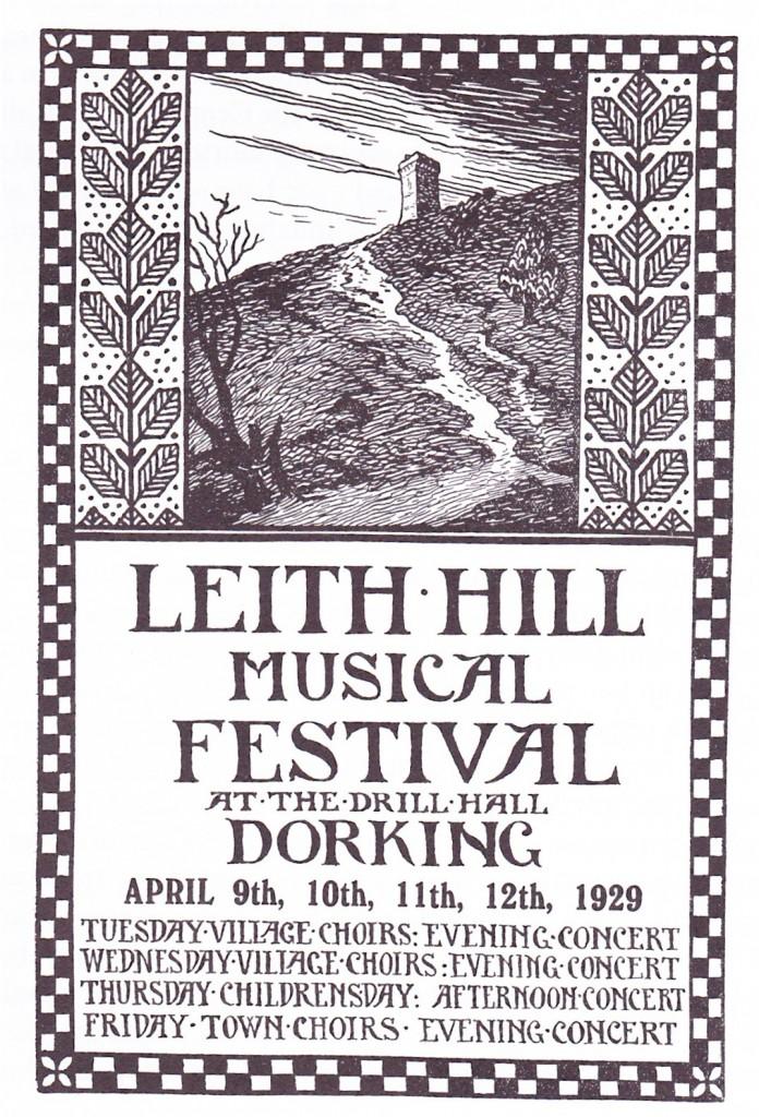 Leith Hill Music Festival Poster 1929