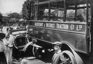 . Wescott's first motorised traffic accident, 1914