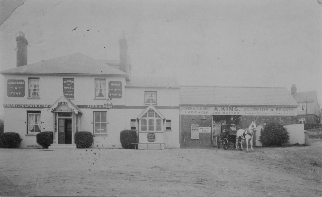 K844 The South Eastern Railway Hotel next to Dorking's first station - now the Pilgrim Inn.