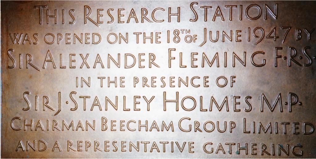 Brockham Park Plaque