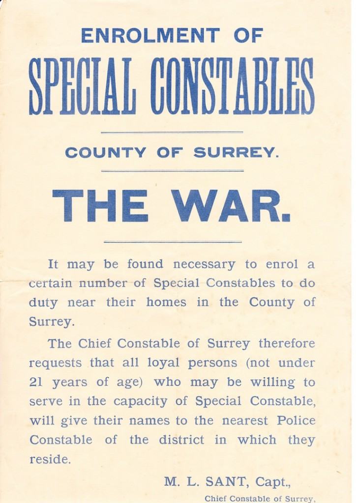 Special Constables Poster