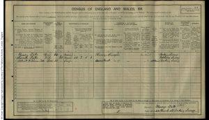 Albert William Tate 1911 Census © findmypast.co.uk